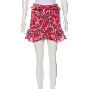 Isabel Marant Red Mini Skirt